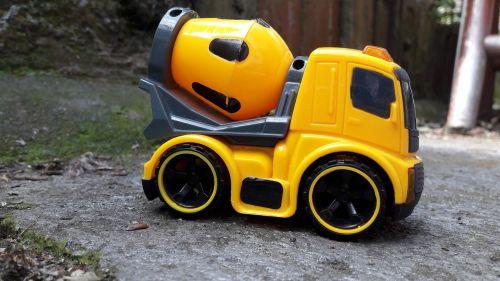 toy car concrete vehicle