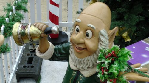 Toy Christmas Elf With Bell
