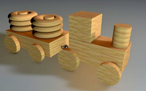 toys wood train
