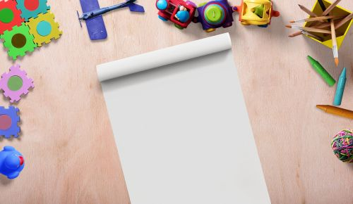 toys frame writing pad