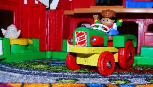toys tractor plastic