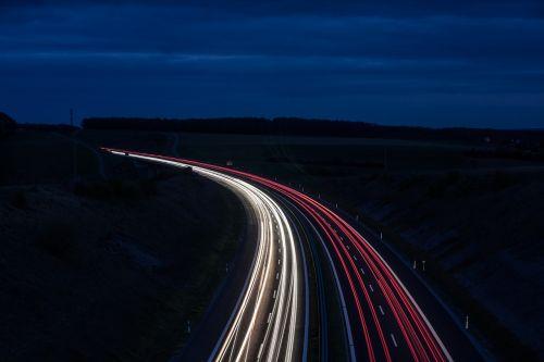 tracer long exposure highway