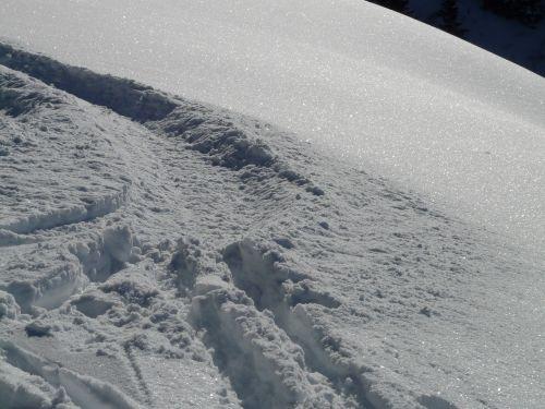 traces trail snow