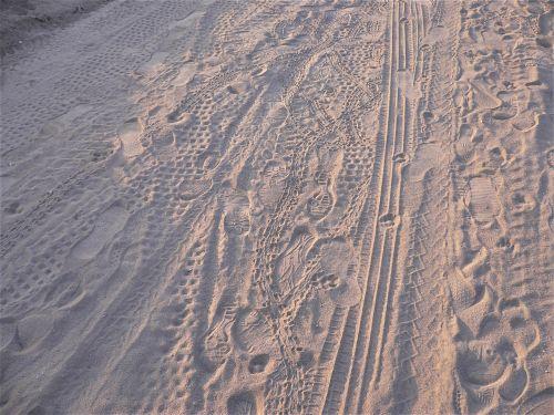 traces sand beach
