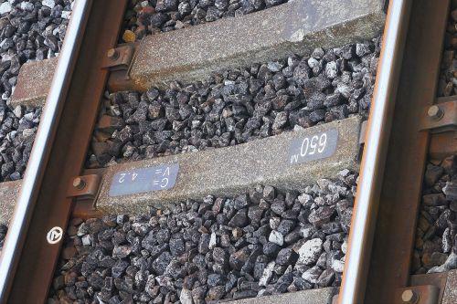 track railway sleepers concrete