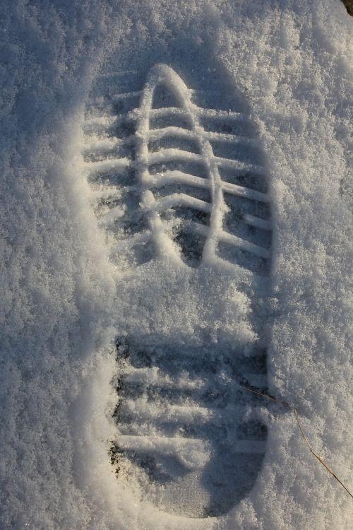 track print snow