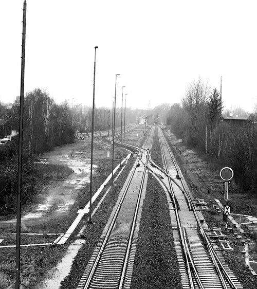 track  train  rails