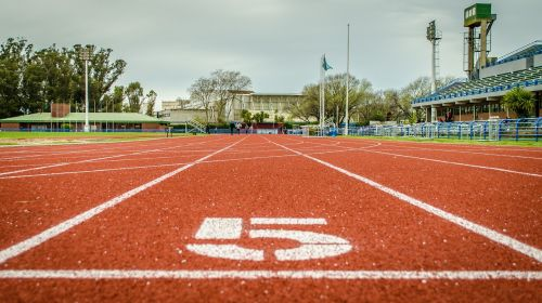 track athletics 100 meters