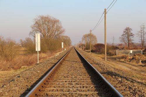 track railway railroad tracks