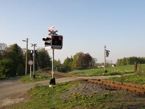 track crossing train crossing