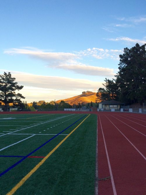 track and field sunset athletic field