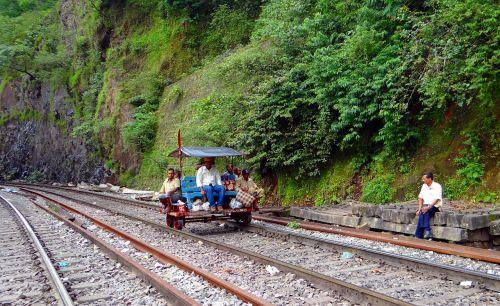 track inspection car railway track indian railways