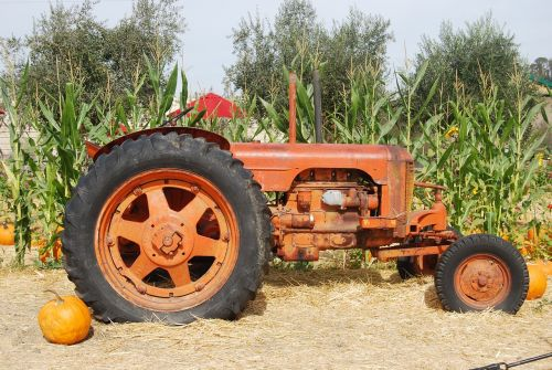 tractor old tractor farm equipment