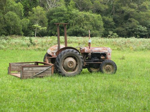tractor old farm