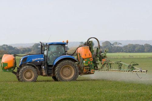 tractor spraying crop spraying