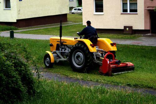 tractor trailer scything