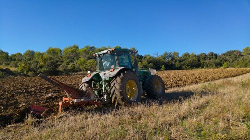 tractor agricultural machine plowing
