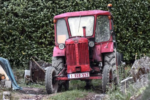 tractor farm tractor red