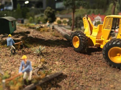 tractor miniature miniatyrvärld