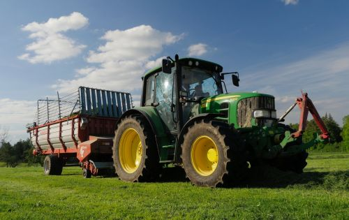 tractor meadow agriculture