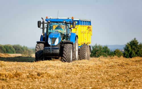 tractor agriculture yellow