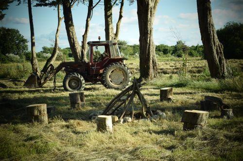 tractor campfire normandy