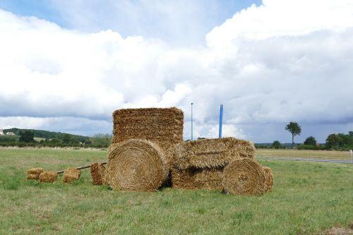 tractor hay hay bale