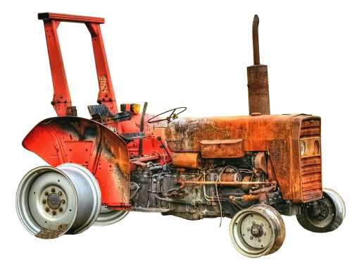 tractor tractors burned down