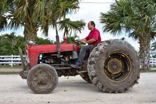 tractor old farmer