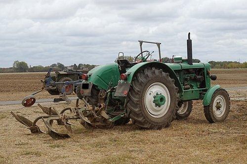 tractor  plough  plow