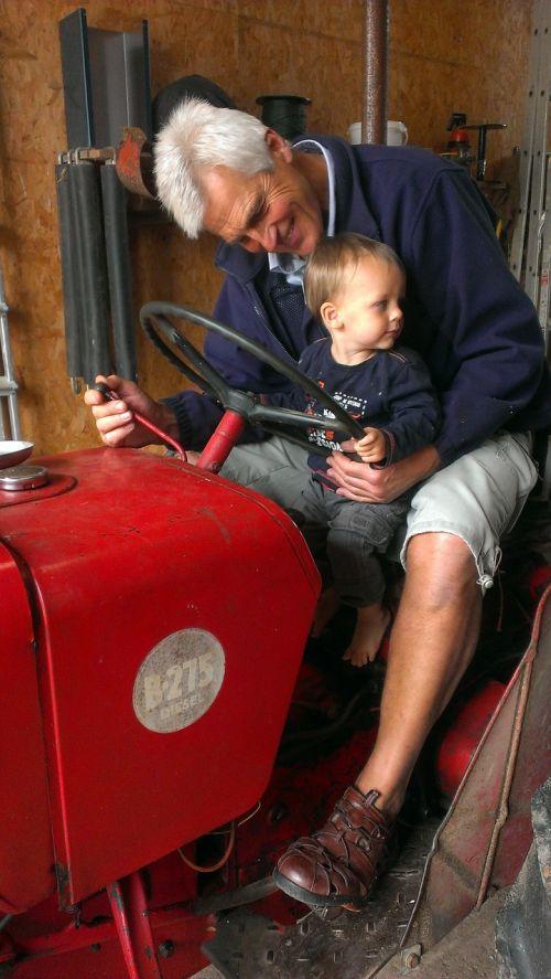 tractor grandfather child