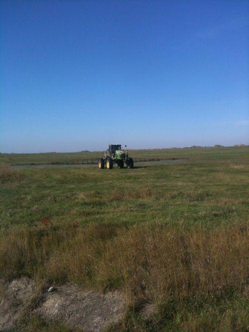 Tractor Spraying