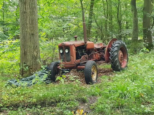 tractors forest nature