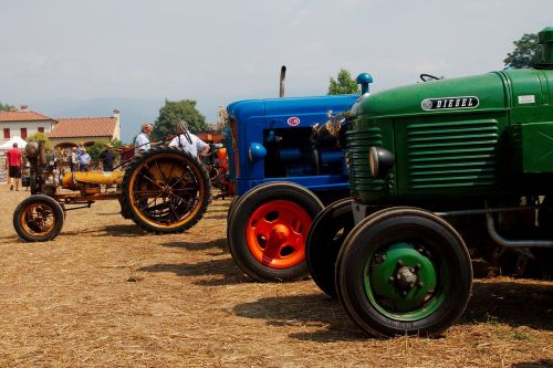 tractors threshing agriculture