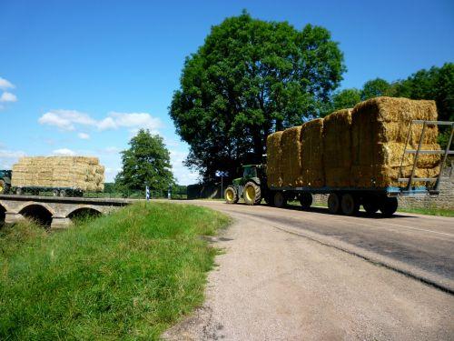 Tractors With Hay