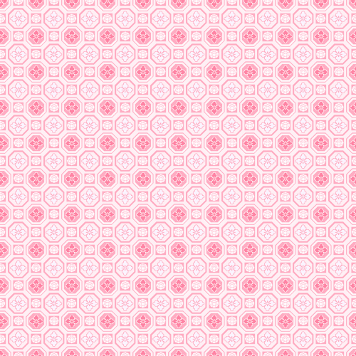 traditional patterns pink octagon