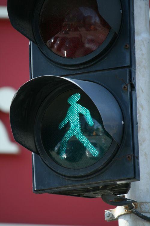 traffic green man