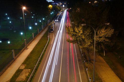 traffic headlights cars