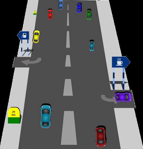 traffic road driving
