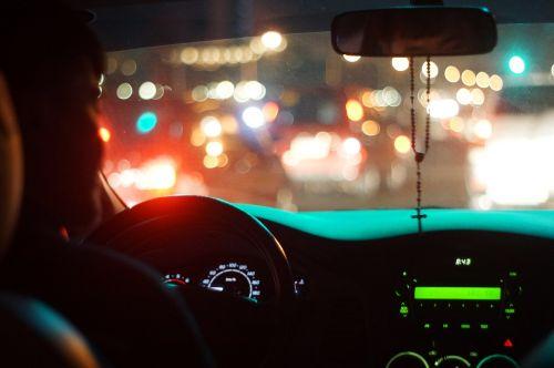 traffic car night