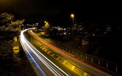 traffic lights track road