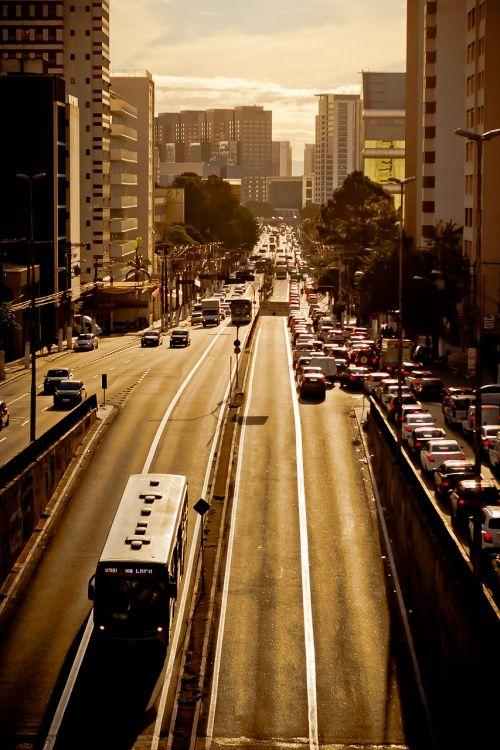 traffic street reflection
