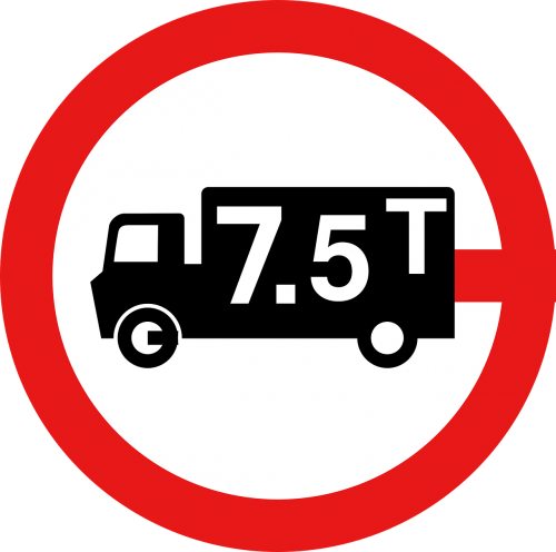 traffic signs lorry