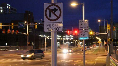 traffic street night