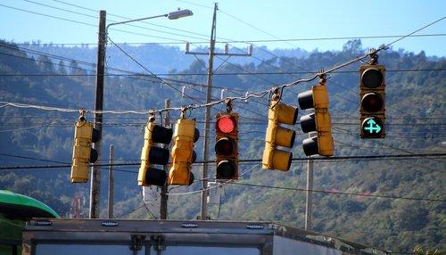 traffic  traffic lights  road