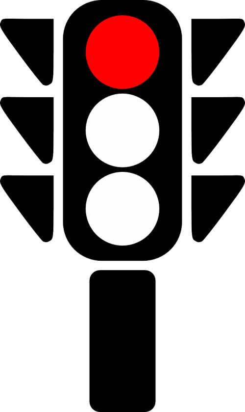 traffic light red stop
