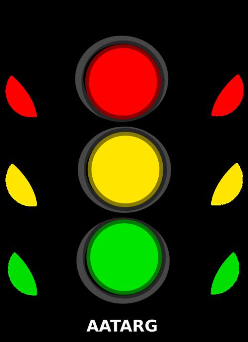 traffic light red yellow