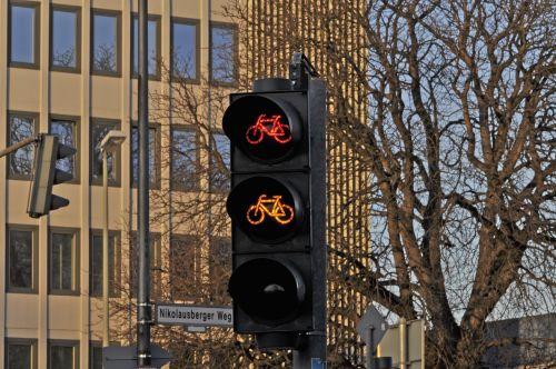 traffic light signal bicycle