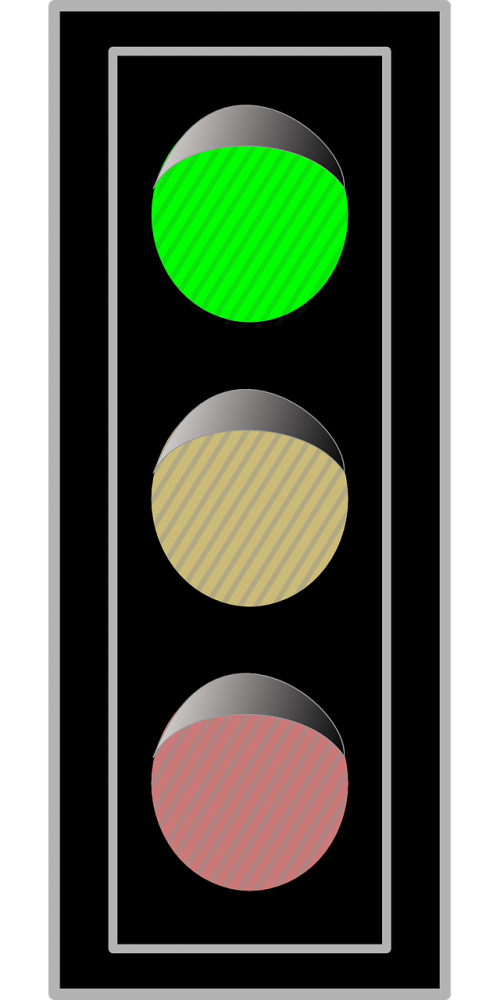 traffic lights green go
