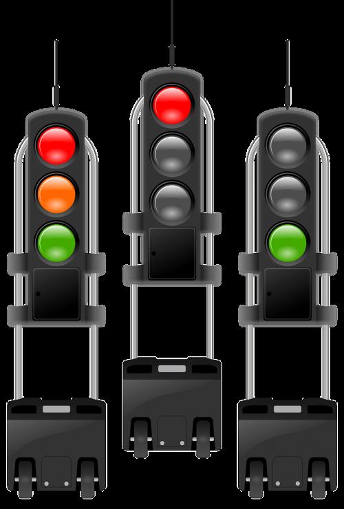 traffic lights lights red
